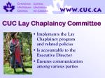 cuc lay chaplaincy committee