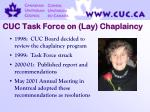 cuc task force on lay chaplaincy
