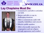 lay chaplains must be