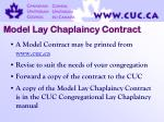 model lay chaplaincy contract