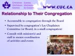 relationship to their congregation