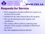 requests for service