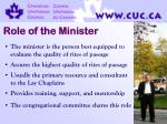 role of the minister