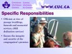 specific responsibilities16