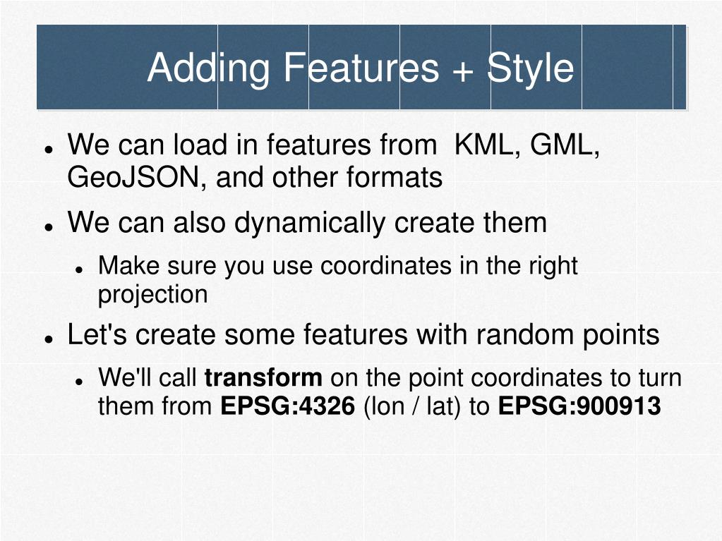 Adding Features + Style