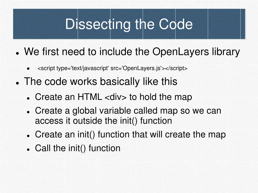 Dissecting the Code