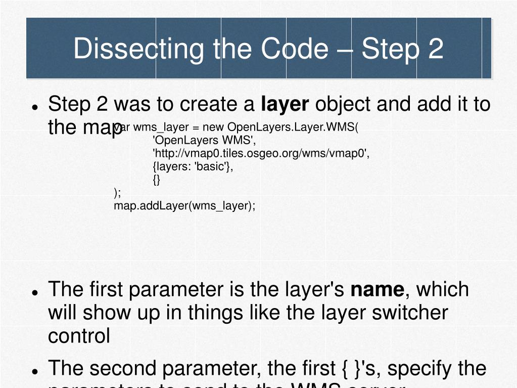 Dissecting the Code – Step 2