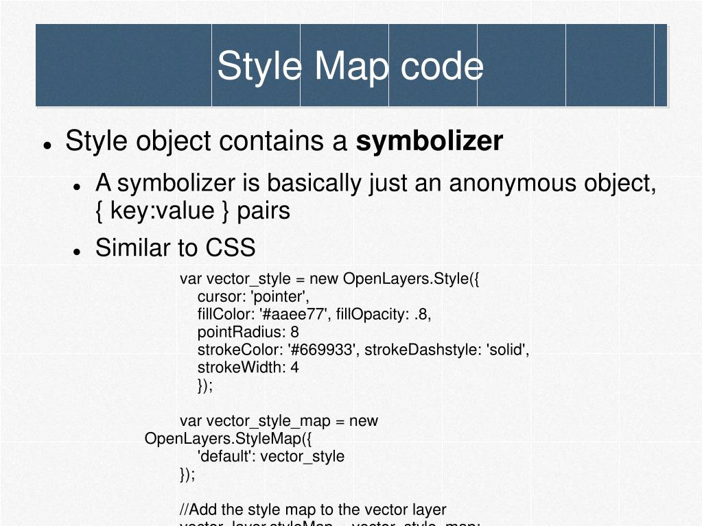 Style Map code
