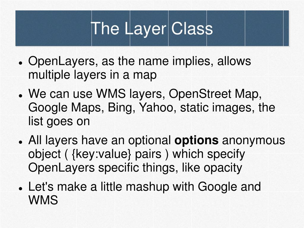 The Layer Class