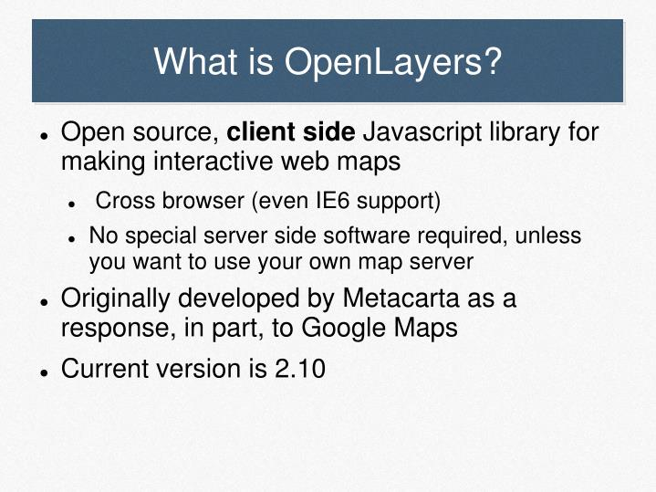 What is openlayers