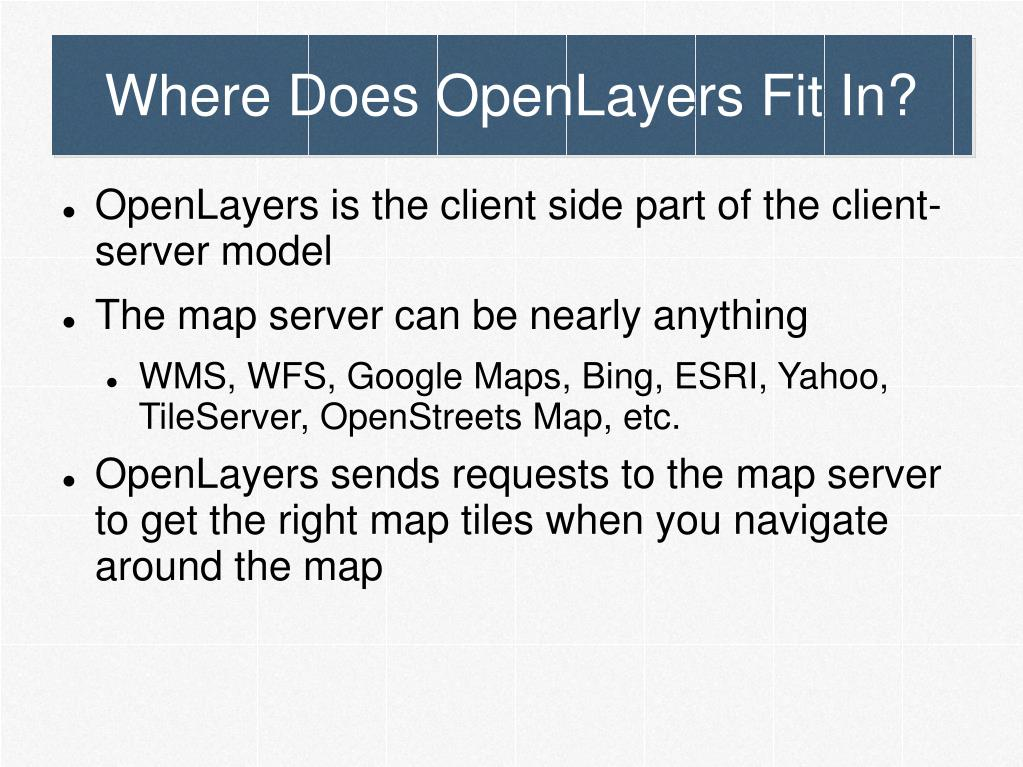 Where Does OpenLayers Fit In?