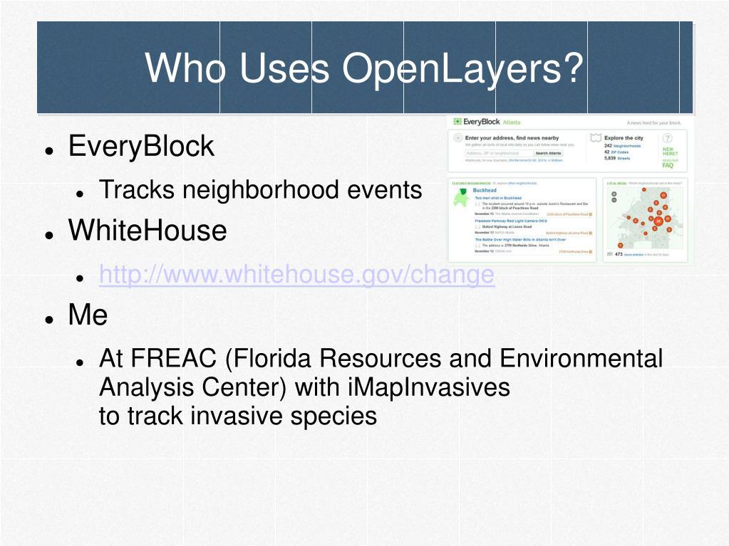 Who Uses OpenLayers?