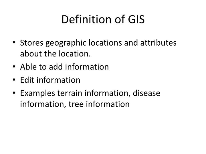Definition of gis