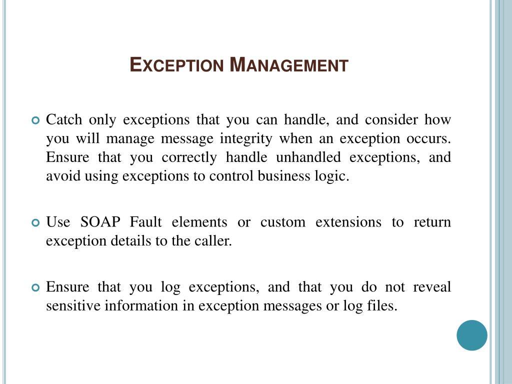 Exception Management