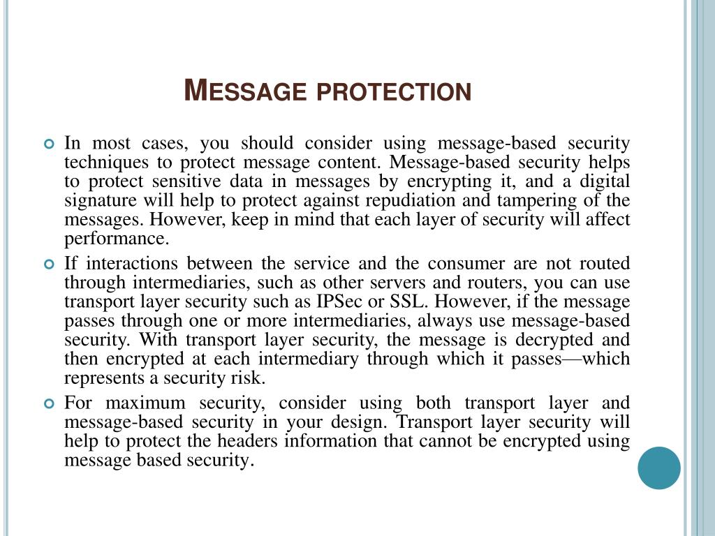 Message protection