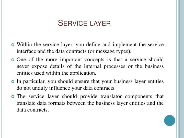 Service layer3