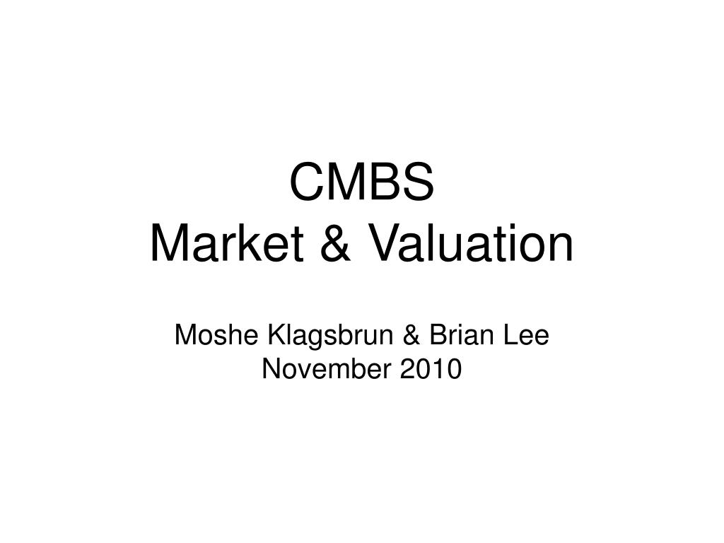 cmbs market valuation l.