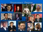 government regime