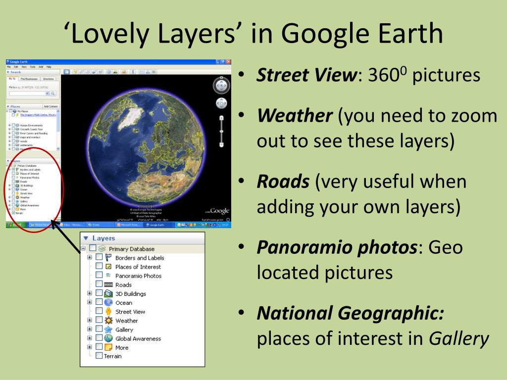 'Lovely Layers' in Google Earth