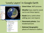 lovely layers in google earth