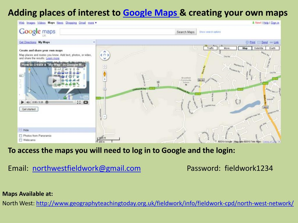 Adding places of interest to
