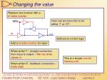changing the value