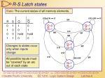 r s latch states