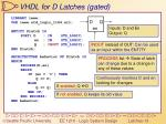 vhdl for d latches gated