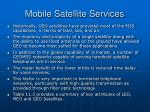 mobile satellite services