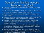 operation of multiple access protocols aloha39