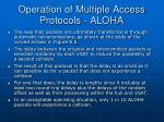 operation of multiple access protocols aloha40