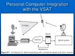 personal computer integration with the vsat34