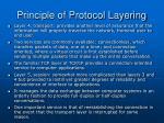 principle of protocol layering12