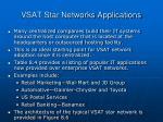 vsat star networks applications