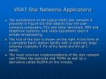vsat star networks applications30