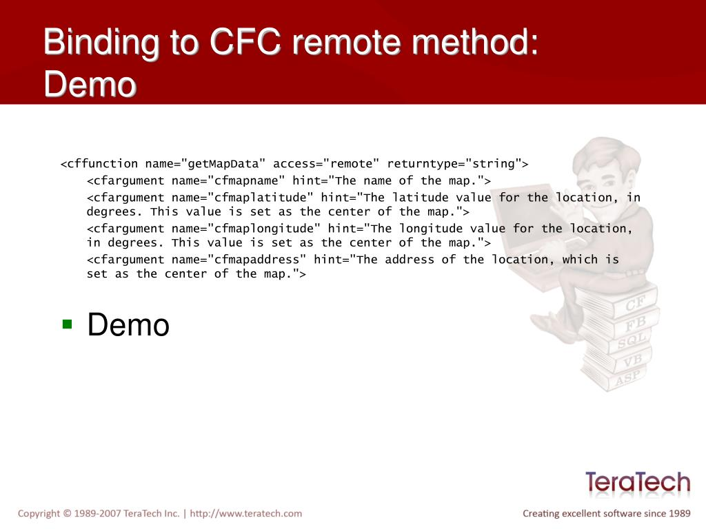 Binding to CFC remote method: Demo