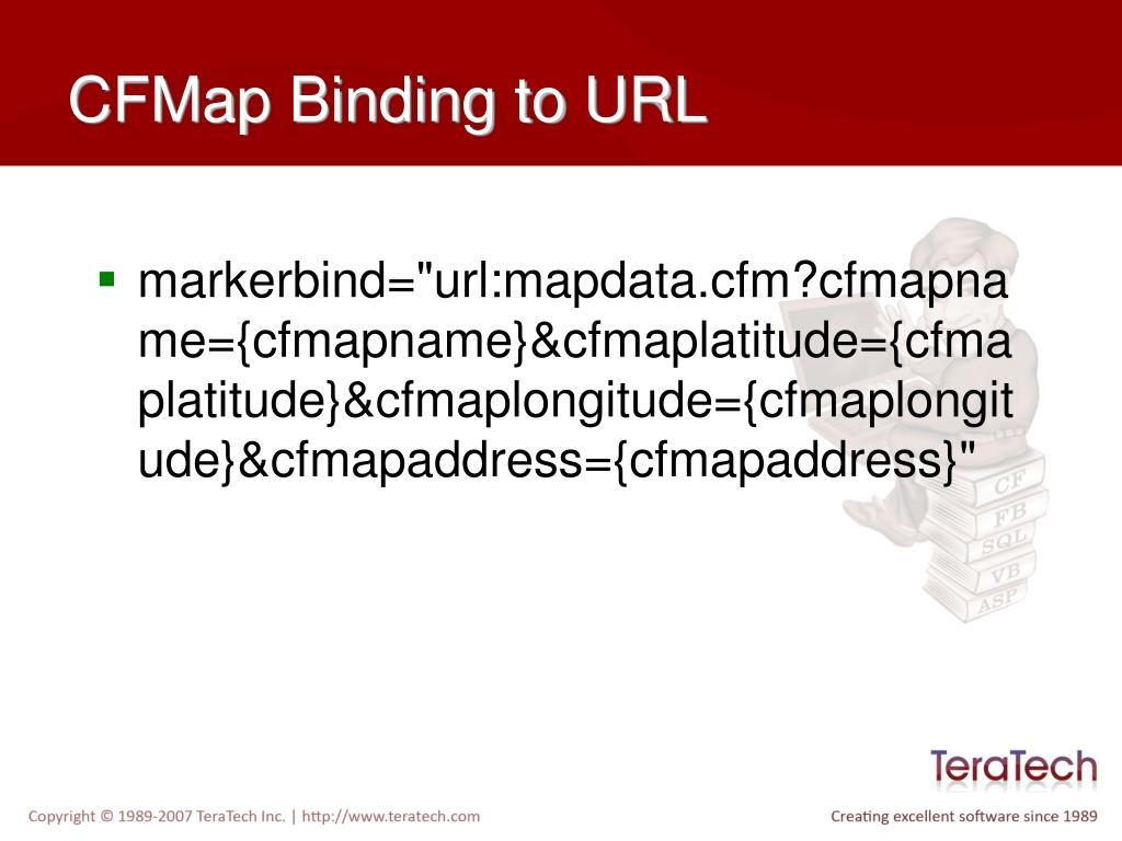 CFMap Binding to URL