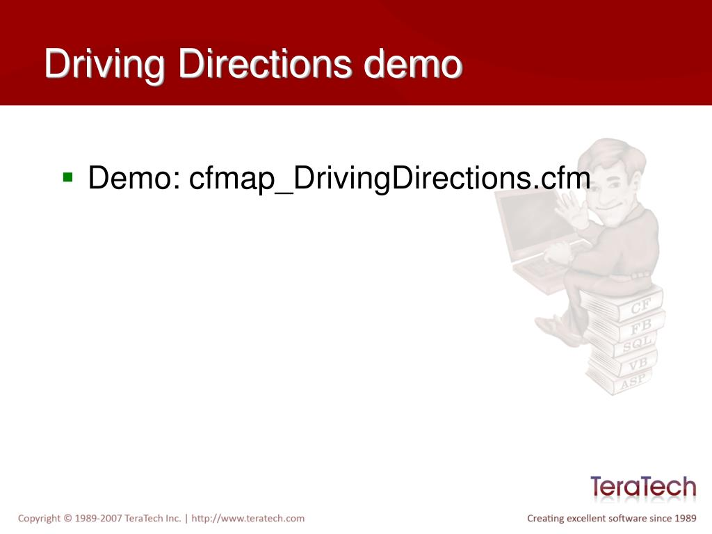 Driving Directions demo