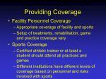 providing coverage