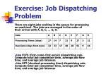 exercise job dispatching problem