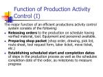 function of production activity control i