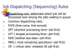 job dispatching sequencing rules