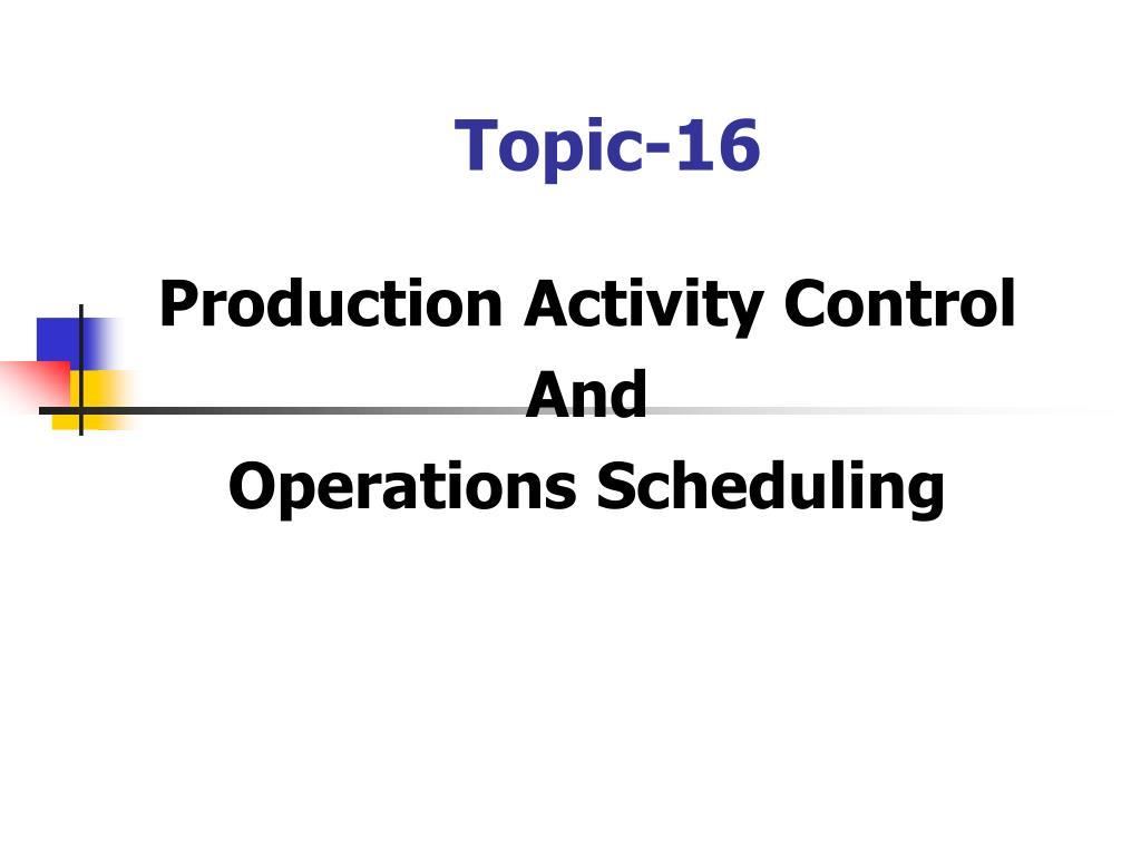 topic 16 l.