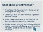 what about effectiveness