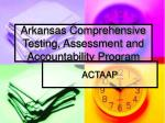 arkansas comprehensive testing assessment and accountability program