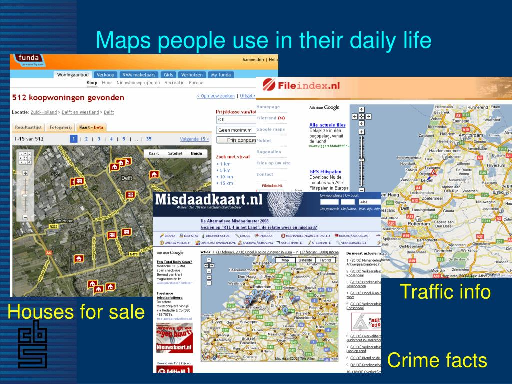 Maps people use in their daily life
