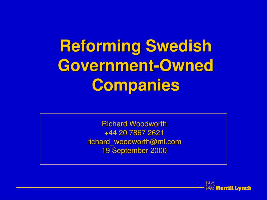 reforming swedish government owned companies l.