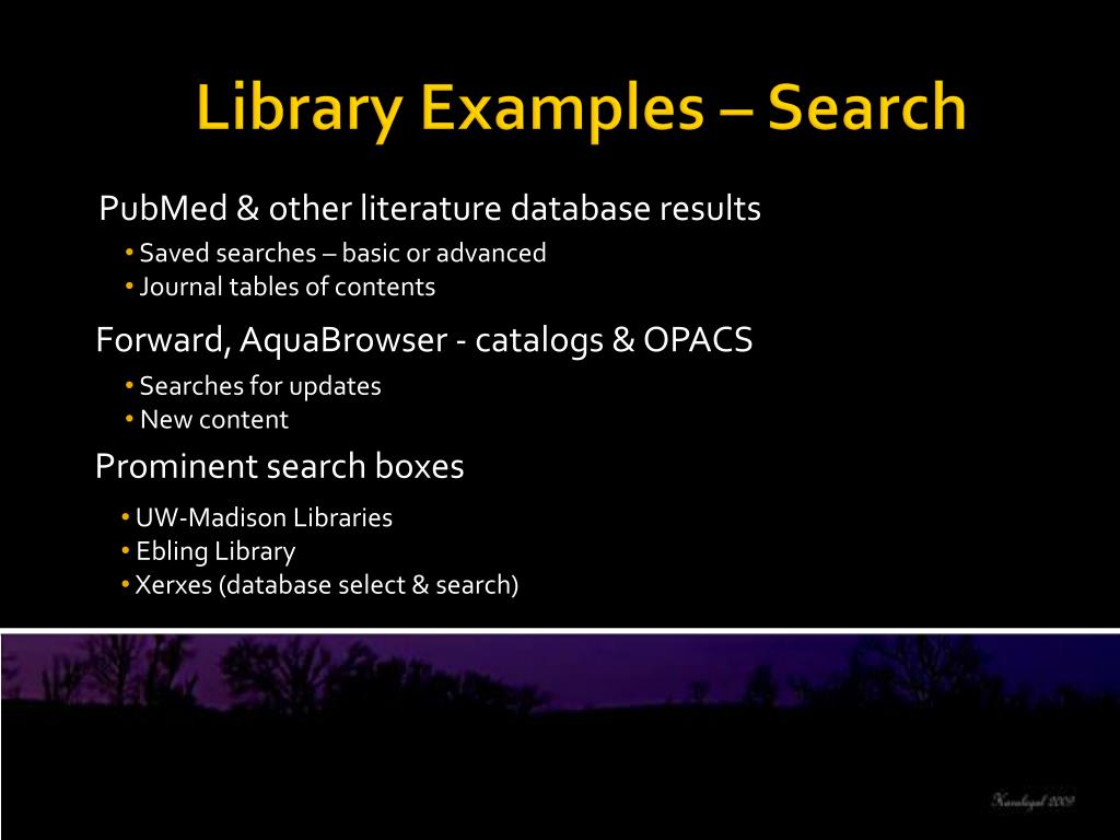 PubMed & other literature database results