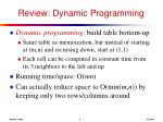 review dynamic programming