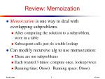 review memoization